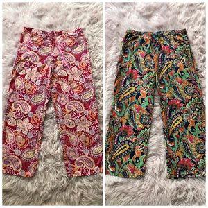 Vera Bradley Paisley Pajama Lounge pants set L